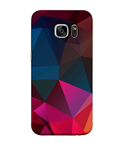 Silence Designer Colourful Pattern Triangle Background Printed Back Case Cover for Samsung Galaxy S7 Edge
