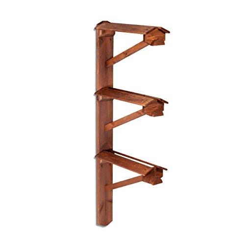 monturero de pie de madera triple