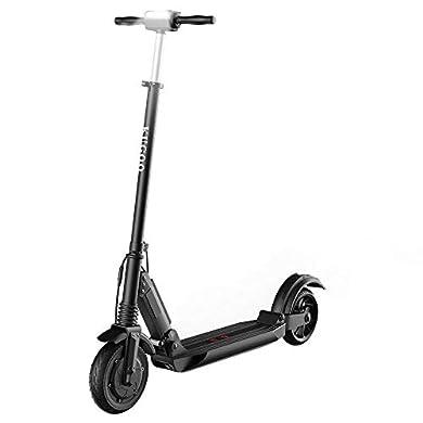 Patinete Eléctrico para Adultos, KUGOO S1 Scooter Electric Plegable Velocidad Máx 30 km/h, 350 Vatios, Batería 7.5Ah, Altura del Manillar Ajustable, Pantalla LCD, Impermeable IP54 (Negro) a buen precio