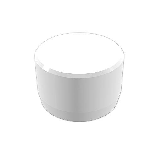 FORMUFIT F001EEC-WH-10 PVC External End Cap, Furniture Grade, 1