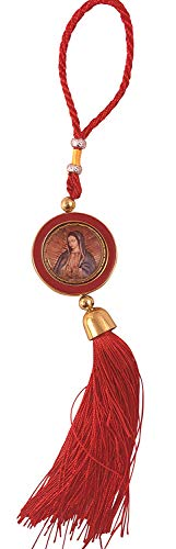 Westman Works Our Lady of Guadalupe Rear View Mirror Hanging Catholic Medal Large Car Auto Decor 12 Inches Long ()