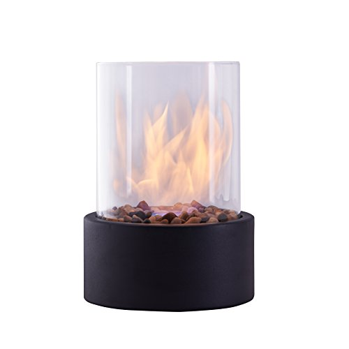 Danya B. Indoor/Outdoor Portable Tabletop Fire Pit – Clean-Burning Bio Ethanol Ventless Fireplace - Small ()