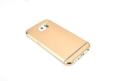 Samsung Galaxy Note 5 Funda, Vandot Hybrid Diseño 3 en 1 Cáscara Dura de la PC Recubrimiento Metálico Marco Chapado Matte de Lujo Hard Caja de Telefono Duro Protección Cubierta Case Cover para Samsung Hybrid Oro