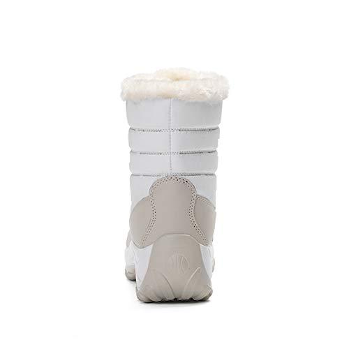 Velours De Neige 8 Femme D'hiver Blanc Chaudes Bottes TaXxT