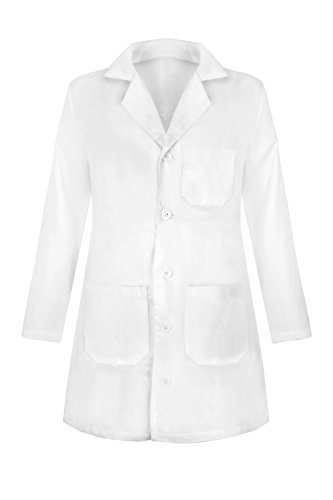 G Med Womens Solid Button Up Lab Coat With Pockets  Sizes Xs 3Xl  Ow Med Whtshort Xl