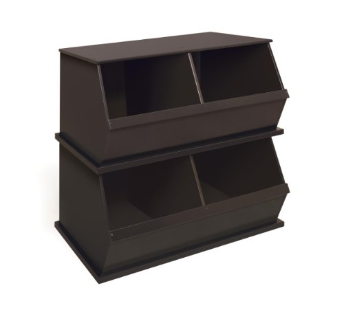 046605997727 - Badger Basket Two Bin Storage Cubby, Espresso carousel main 1