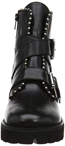 Madden 017 Black Women's Boots Leather Ankle Ankleboot Steve Hoofy Black Fa6qwPPp