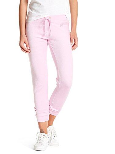 Drawstring Juicy Pants Couture Velour (Juicy Couture Womens Large Velour Drawstring Jogger Pants Pink L)