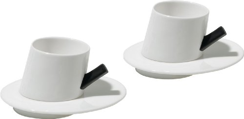 Presto Mocha Cup and Saucer by Alessi