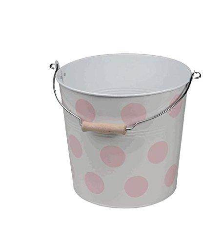 Organize It All Polka-Dot Bucket, Pink