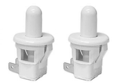 Pack of 2 Sub Zero Refrigerator Replacement Door Light Switch (Round, White)