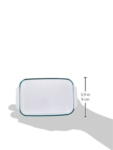 Pyrex 1107101 Basics Clear Oblong Glass Baking Dishes, 2 Piece Value Plus Pack Set by Pyrex (Image #1)