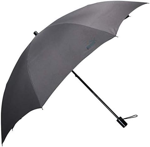 PUMA(プーマ) メンズ 紳士用 ホック式 折りたたみ傘 58cm グレー