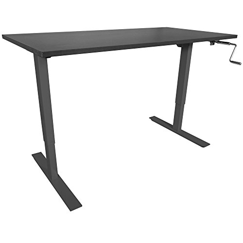 "Titan 30"" x 60"" S5 Adjustable Height Sit to Stand Black Desk 28""- 47"" H"