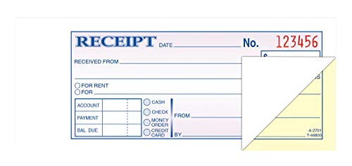 TOPS Money/Rent Receipt Book, 2-Part, Carbonless, 2.75 x 8.5 Inches, 100 Sets per Book (46800)