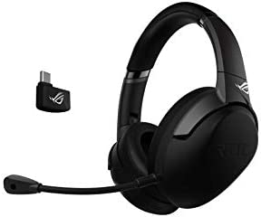 ASUS ROG Strix GO 2.4 - Auriculares de Gaming inalámbricos (2.4 GHz USB-C, micrófono con cancelación de Ruido por IA, compatibles con PC, Mac, Nintendo Switch, Dispositivos Inteligentes y PS4) Negro: Amazon.es: