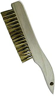 """product image for GORDON BRUSH 444B006G Plater's and Molder's Brush with Brass Bristles, Shoe Handle, 4 x 16 Rows, 10"""" Overall Length"""