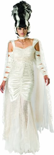 Monsters Bride Costume (InCharacter Costumes, LLC Women's Monster Bride Costume, White, X-Large)