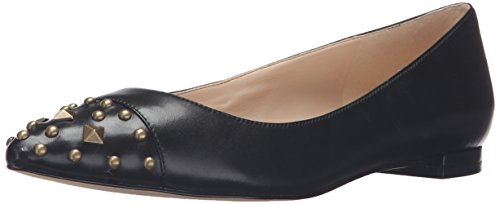 Image of Nine West Women's Adelphine Leather Pointed Toe Flat