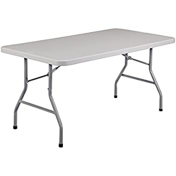 table frame. national public seating bt3060 steel frame rectangular blow molded plastic top folding table, 1000 lbs table