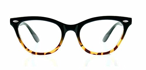 Cat Eye Wayfarer Style Gradient Two Tone Plastic Frame Women Eyeglasses Glasses (Ombre, - Tone 2 Glasses