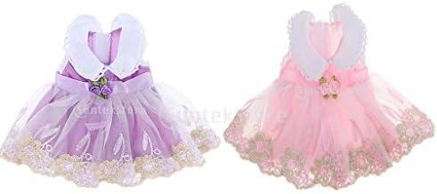 花パターン 短い人形ドレス 14インチアメリカンガール人形用 スカート ワンピース