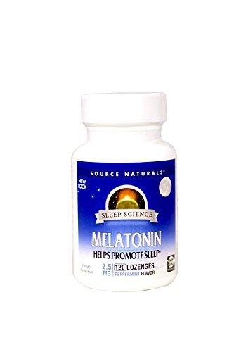 (Source Naturals, Melatonin Sublingual Peppermint 2.5Mg, 120 Tablets)