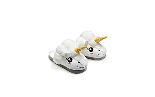 DESIGN FREUNDE Einhorn Hausschuhe Slipper Schuhe Plüschschuhe Hausslipper Einhörner Geschenkidee Schuhe Damenschuhe Winterhausschuhe