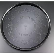 EMI Yoshi Koyal Deli Mate Round Trays, 18-Inch, Black, Set of 25