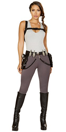 Tomb Raider Outfits (Sexy Rampage Tomb Raider Costume with Accessories - Grey -)