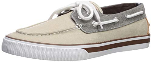 Nautica Men's Galley Boat Shoe, Khaki/Brown, 10 Medium US