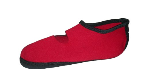 Nufoot Mary Janes Slipper, Red, Extra Large