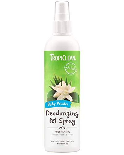 TropiClean Baby Powder Deodorizing Pet Spray, 8oz