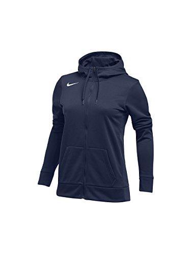 Nike Women's Thrma All Time Full Zip Hoodie, Navy, Medium
