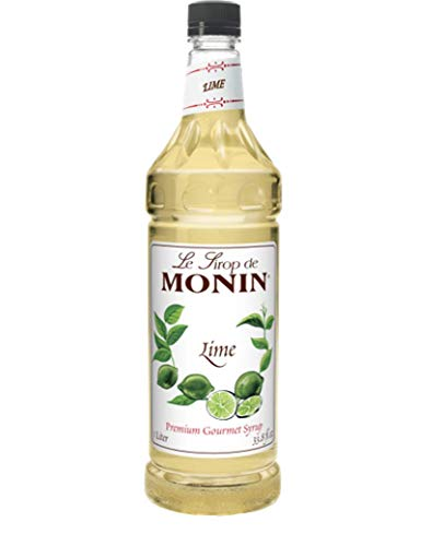 Lime Syrup - Monin Flavored Syrup, Lime, 33.8-Ounce Plastic Bottle (1 liter)