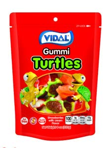 Vidal Turtles Gummi Candy, Resealable 8 ounce Zip-lock Bag ()