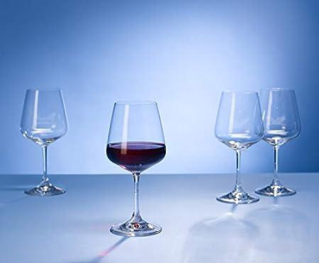 Atemporal Copa de vino tinto de cristal de calidad para la vida cotidiana o las ocasiones especiales