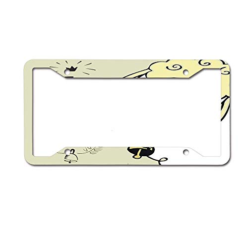 Headwind GR Your License Plate Frame Novelty Metal Funny Decorative for Vehicle Auto Car Tag Bible Hand Lettering with Cute Sheep Bell The Lord is My Shepherd Biblical Psalm 23 Christian Faith