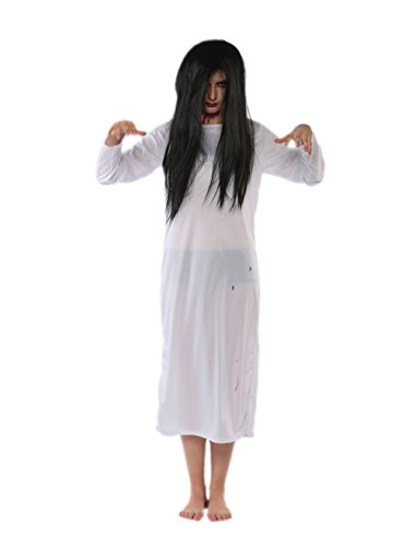 High Five Ghost Costume (JJ-GOGO Japanese Scary Movie Fancy Ghost Costume (White))