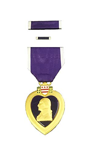 Medal Heart Military (Purple Heart Medal Complete Box Set in Official Presentation Case (As Issued by US Military))