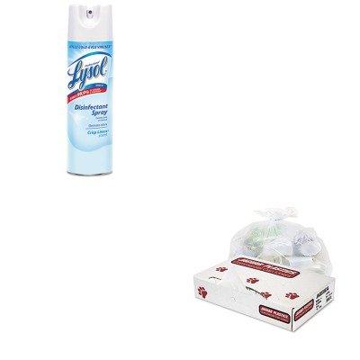 KITJAGD38634CLRAC74828CT - Value Kit - Jaguar Plastics D38634CL Clear Industrial Strength 2.7 Mil Drum Can Liners, 38quot; x 63quot; (JAGD38634CL) and Professional LYSOL Brand Disinfectant Spray (RAC74828CT) by Jaguar Plastics