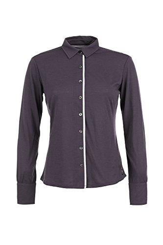 antique Natural W Grey Shirt Merino Comfort Super Brown White Button Camicetta 4S6yppq