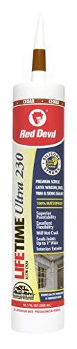 Red Devil 077010 Lifetime Ultra Premium Elastomeric Acrylic Latex Sealant, 10.1-Ounce , Cedar