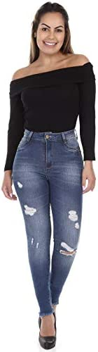 Jeans Jeans Push Up, Sawary Jeans, Feminino