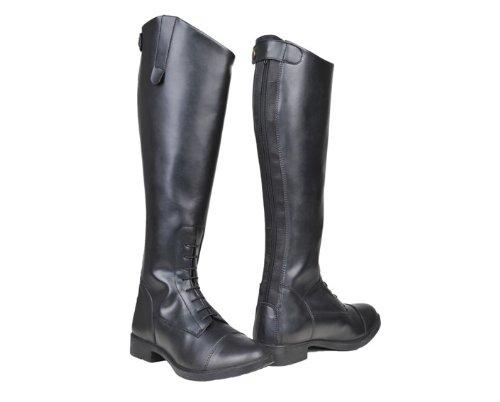 HKM Damen Reitstiefel-New Fashion, Standard, Schwarz, 40