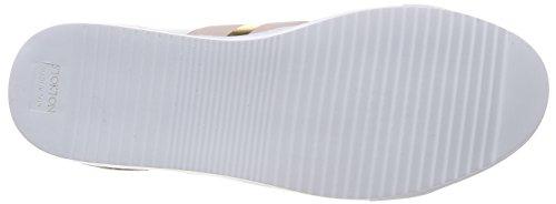 Stokton Damen Sneaker Mehrfarbig (bianco / Rosa / Oro)