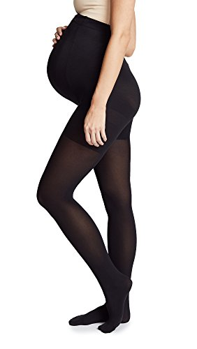 Spanx Cotton Tights - SPANX Women's Mama Maternity Tights, Very Black, B