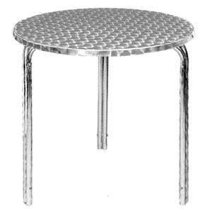 commercial round stackable bistro table 600mm cafe bistro