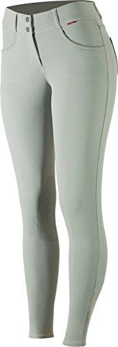 - B Vertigo Kimberley Women's Ultra Comfort Quick Dry Silicone Knee Patch Breeches Light Grey 28