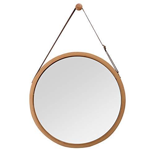 Zri Bamboo Spiegel Wandspiegel Rund Flur Spiegel Bamboo Badspiegel